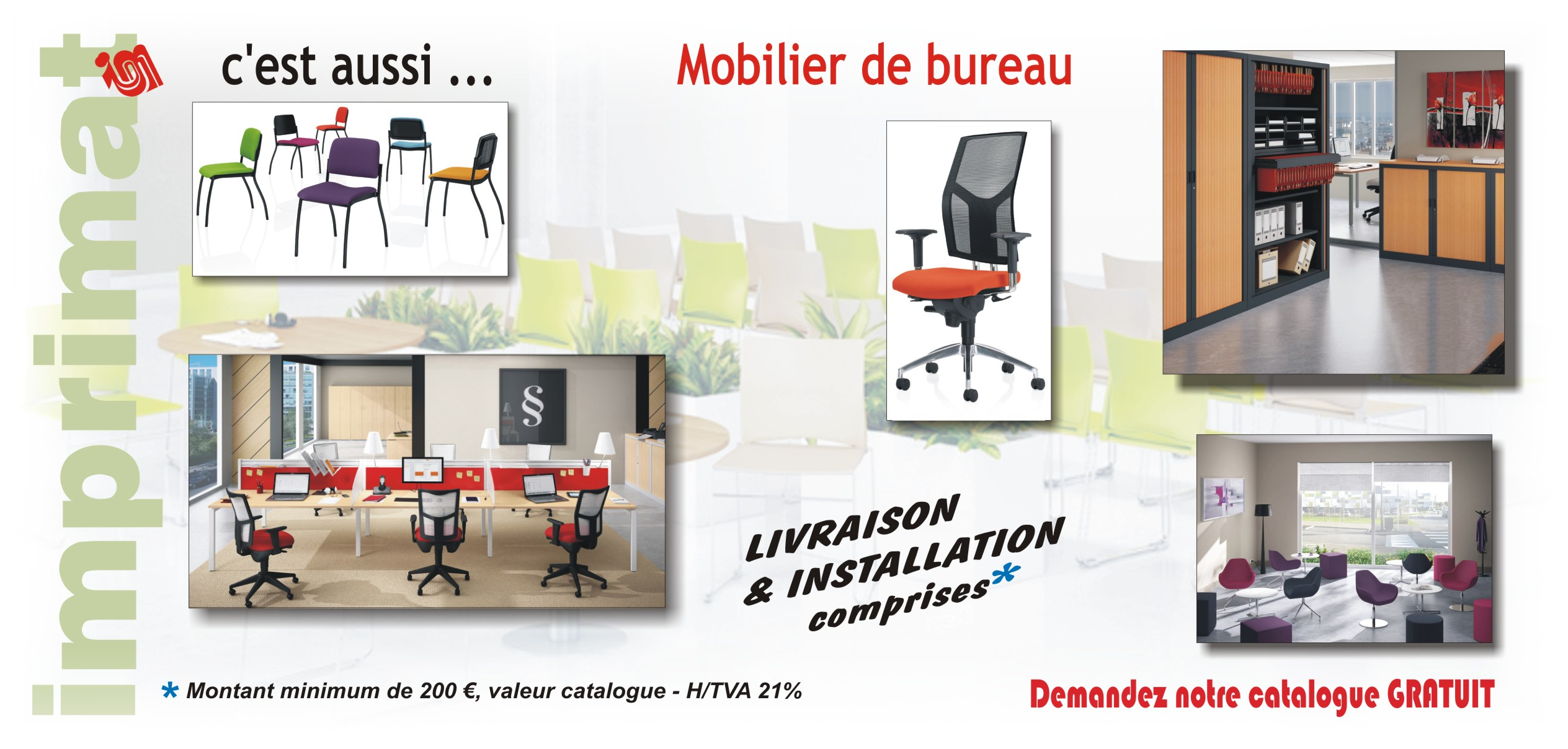 mobilier de bureau imprimat sprl. Black Bedroom Furniture Sets. Home Design Ideas